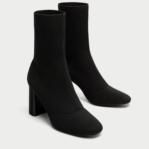 f8d49cc2846 ZARA Fabric High Heel Ankle Boots